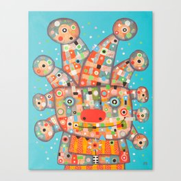 Clown with Flower Canvas Print