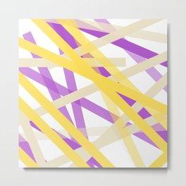Banana Concrete Blueberry Trio Metal Print