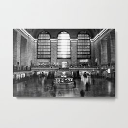 Grand Central Station Rush Metal Print