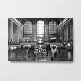 Grand Central Station Rush Metal Print