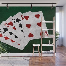 Poker Four Of A Kind Ten Six Wall Mural