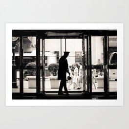 New York: Silhouette in Trump Tower Art Print