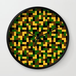 Color camouflage Wall Clock
