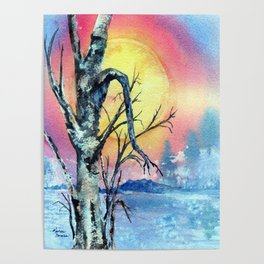 Misty Morning by Maureen Donovan Poster