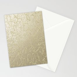 Gold Centered 22 lh Stationery Cards