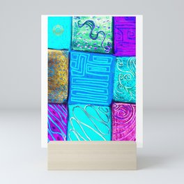 San Fran Tribal design Mini Art Print
