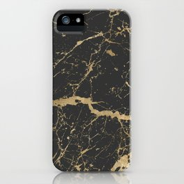 Marble Black Gold - Whistle iPhone Case