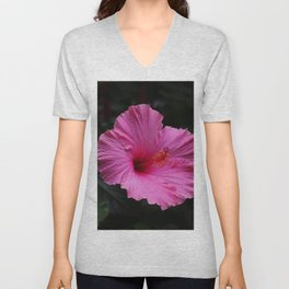 Hibiscus at Eden Project Unisex V-Neck