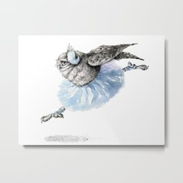 Owl lake - White Owl Metal Print
