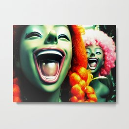 Wigs Metal Print
