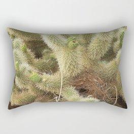 Bird's Nest in Teddy Bear Cholla, #1 Rectangular Pillow