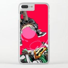 GOKU VS SUPERMAN Clear iPhone Case