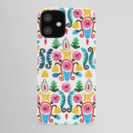 Colorful oriental watercolor floral pattern. iPhone Case