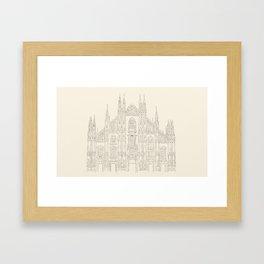Cathedral of Milan Framed Art Print