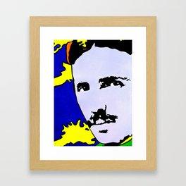 Nikola Tesla Art Print by Jossart © Framed Art Print