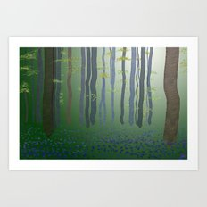 Forest Glade Art Print