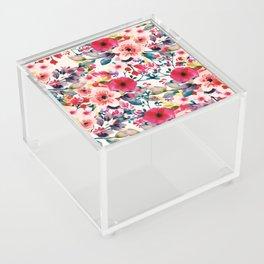 Poppy Blooms Acrylic Box