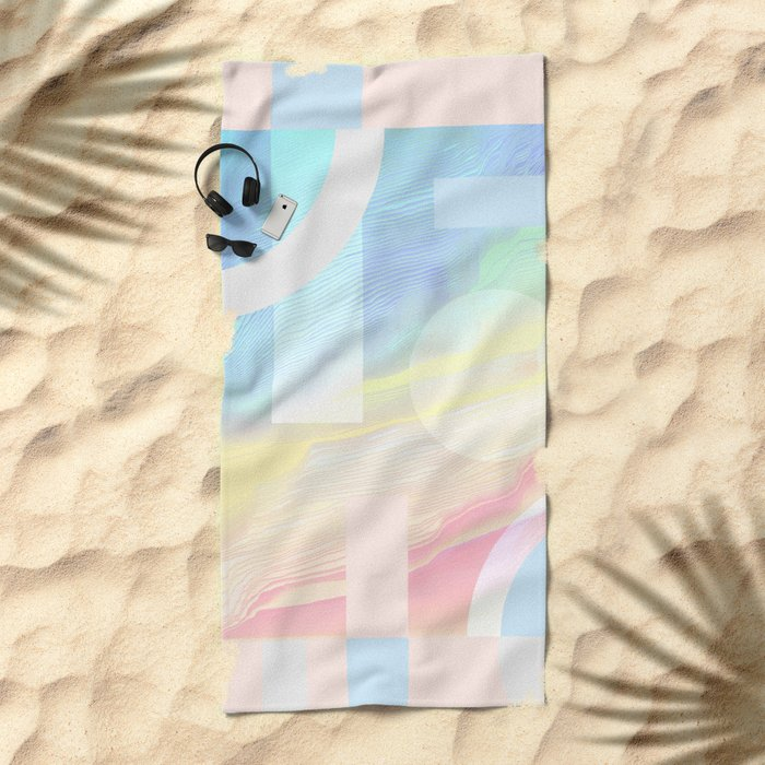 Shore Synth #2 Beach Towel