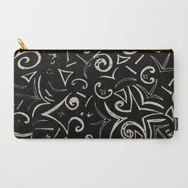 Black and White Design Carry-All Pouch