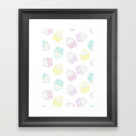 pastel cupcakes  Framed Art Print