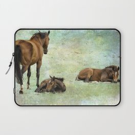 Mare and Two Foals Laptop Sleeve