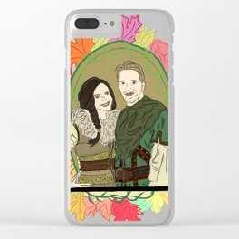 Outlaw Queen Autumn Love - Once Upon A Time's Regina and Robin Clear iPhone Case