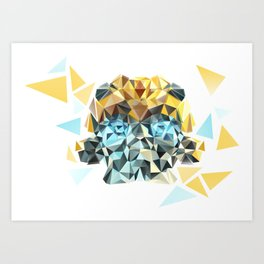 Bumblebee Low Poly Portrait Art Print