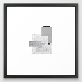 White and grey boxes Framed Art Print
