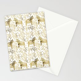 Swedish Dala Horses – Gold Palette Stationery Cards