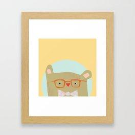 Bear in Specs Framed Art Print