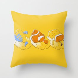 Feeling like sushi :) Throw Pillow