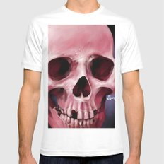 Skull 8 Mens Fitted Tee White MEDIUM