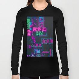 Hong Kong Neon Aesthetic Long Sleeve T-shirt