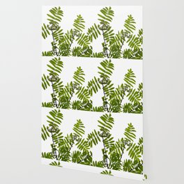 Green Rowan Leaves White Background #decor #society6 #buyart Wallpaper