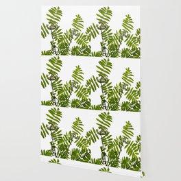 Green Rowan Leaves White Background #decor #society6 #buyart Wallpaper