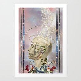 awakening - anatomical collage art by Bedelgeuse Art Print