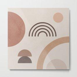 Geometric Shapes 26 Metal Print