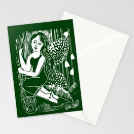 Forest Fairy Printmaking Art Stationery Cards