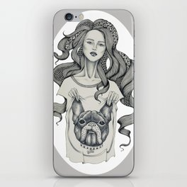 girl&dog iPhone Skin