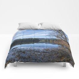 Leaves Fallen on Fish Lake Comforters