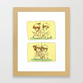 Split screened Framed Art Print