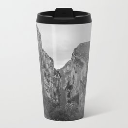 French Gorges in the winter [black and white] Travel Mug