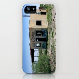 Somewhere on the Old Pecos Highway #3 iPhone Case