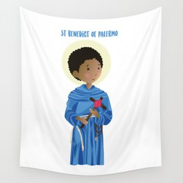 St.Benedict of Palermo Wall Tapestry