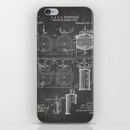 Brewery Patent - Beer Art - Black Chalkboard iPhone Skin