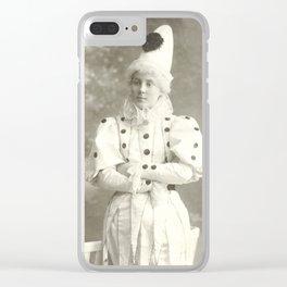 Clown, 1925 - Vintage Photo Clear iPhone Case
