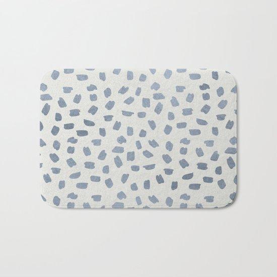 Simply Ink Splotch Indigo Blue on Lunar Gray Bath Mat