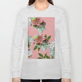 LILY PINK AND WHITE FLOWER Long Sleeve T-shirt