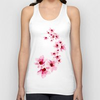 cherry blossom Tank Tops featuring Cherry Blossom  by Folksfield