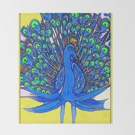 Peacock Art Jen Throw Blanket